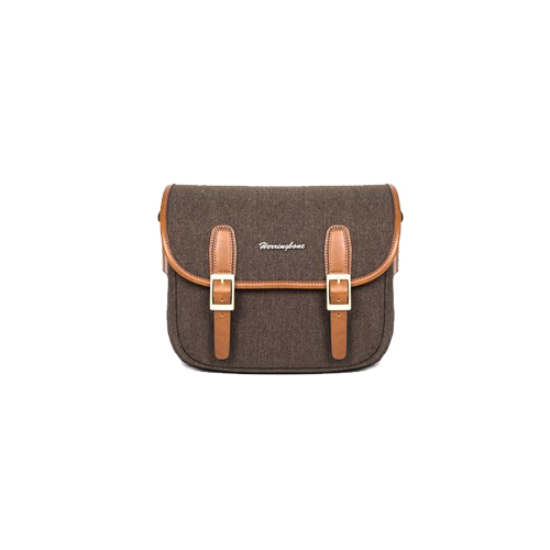Herringbone Maniere Small Camera Bag (Brown)